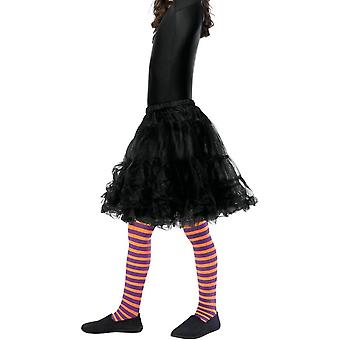 Wicked Witch Tights, barn, Orange & lilla
