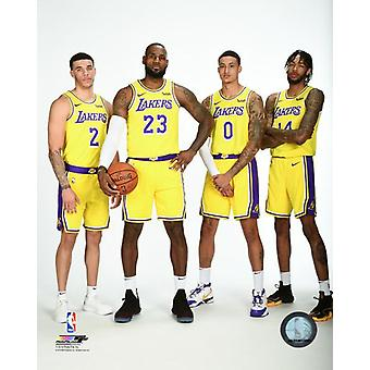 Lonzo Ball LeBron James Kyle Kuzma & Brandon Ingram 2018 Posed Photo Print