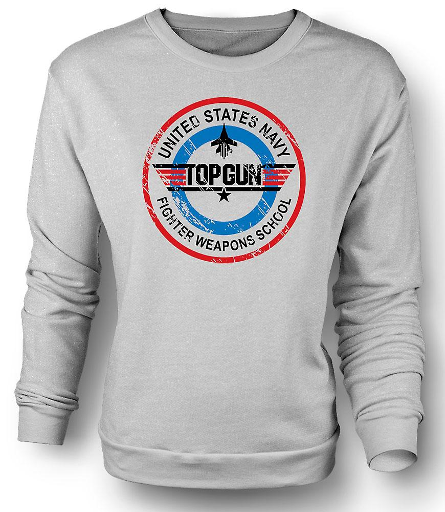 Mens Sweatshirt Top Gun Fighter våpen - USAF