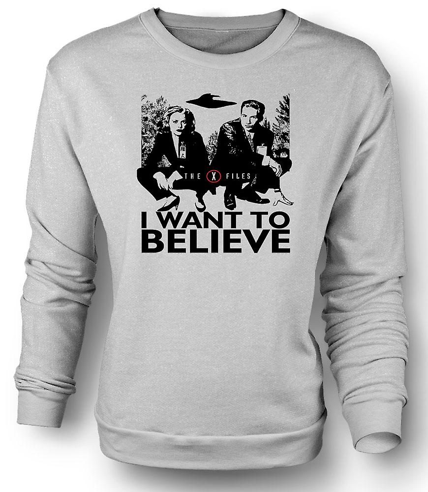Mens Sweatshirt X Files I Want To believe - UFO