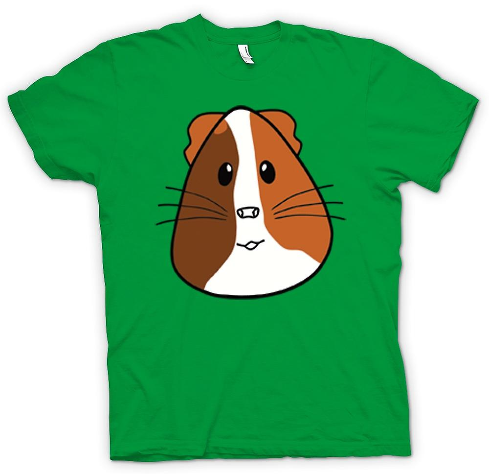 Mens T-Shirts-Cartoon-Meerschweinchen-Gesicht