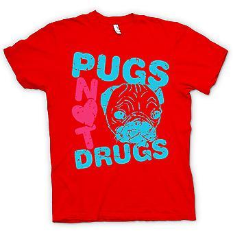 Kinder T-shirt-Pugs Drogen nicht lustig