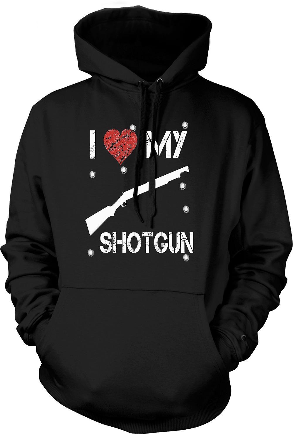 Felpa con cappuccio uomo - Amo il mio fucile