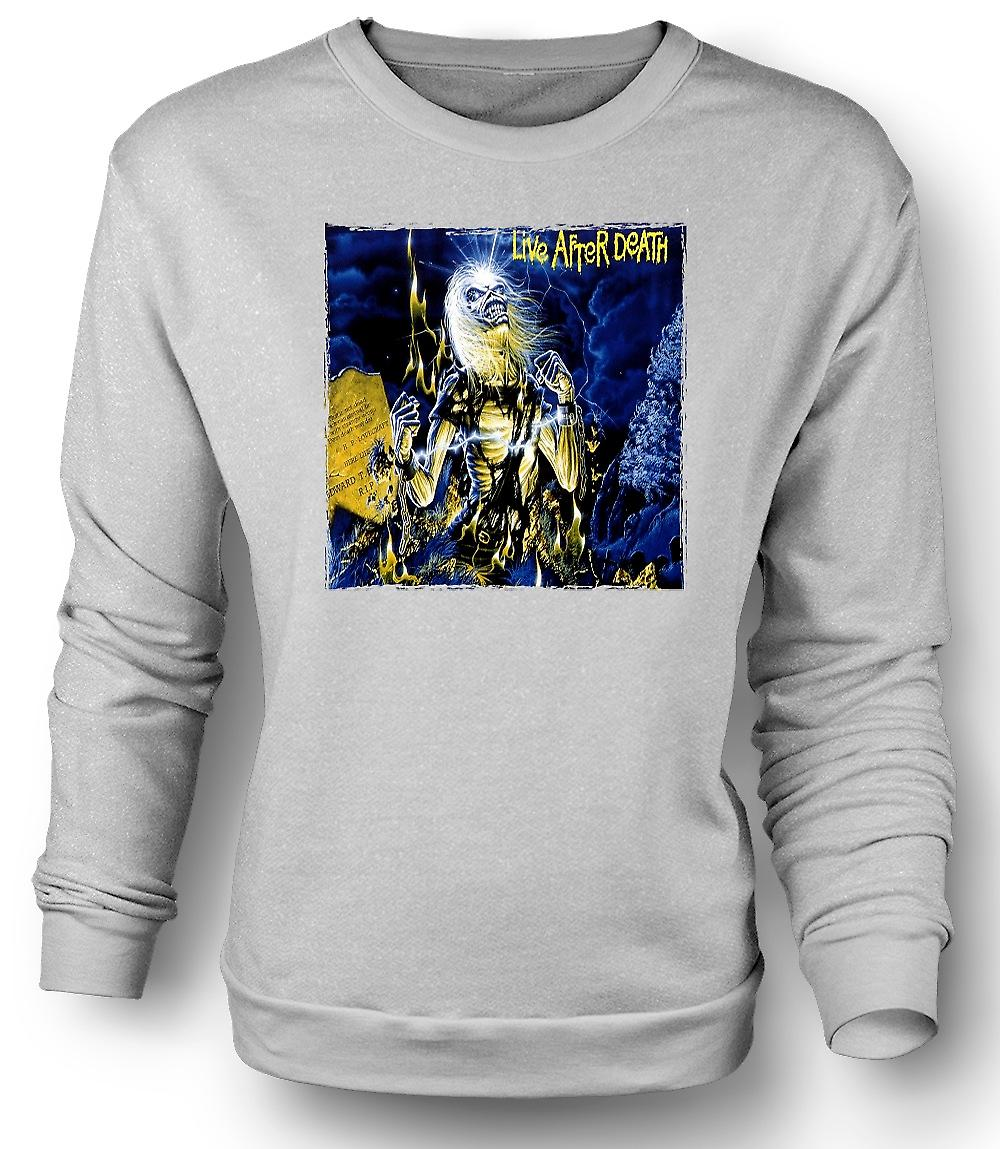 Mens Sweatshirt Iron Maiden - skivomslag - Live After Death