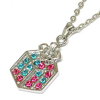 The Olivia Collection Multicolour Rhinestone Set Gift Box Pendant on 16