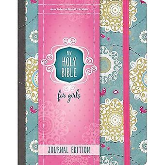 NIV Bibel für Mädchen, Journal Ausgabe, Hardcover, Türkis, elastischer Verschluss