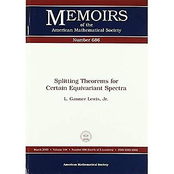 Splitting theorems for certain equivariant spectra