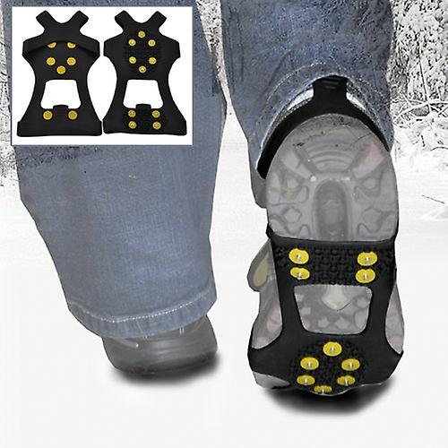 Extra Large - Ice Traction Universal Slip-on Stretch Fit Snow & Ice Spikes (Grips Crampons Cleats) - 10 Studs