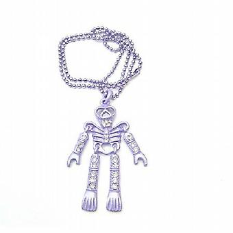 Purple Skeleton Halloween Body Pendant Necklace Pendant Jewelry