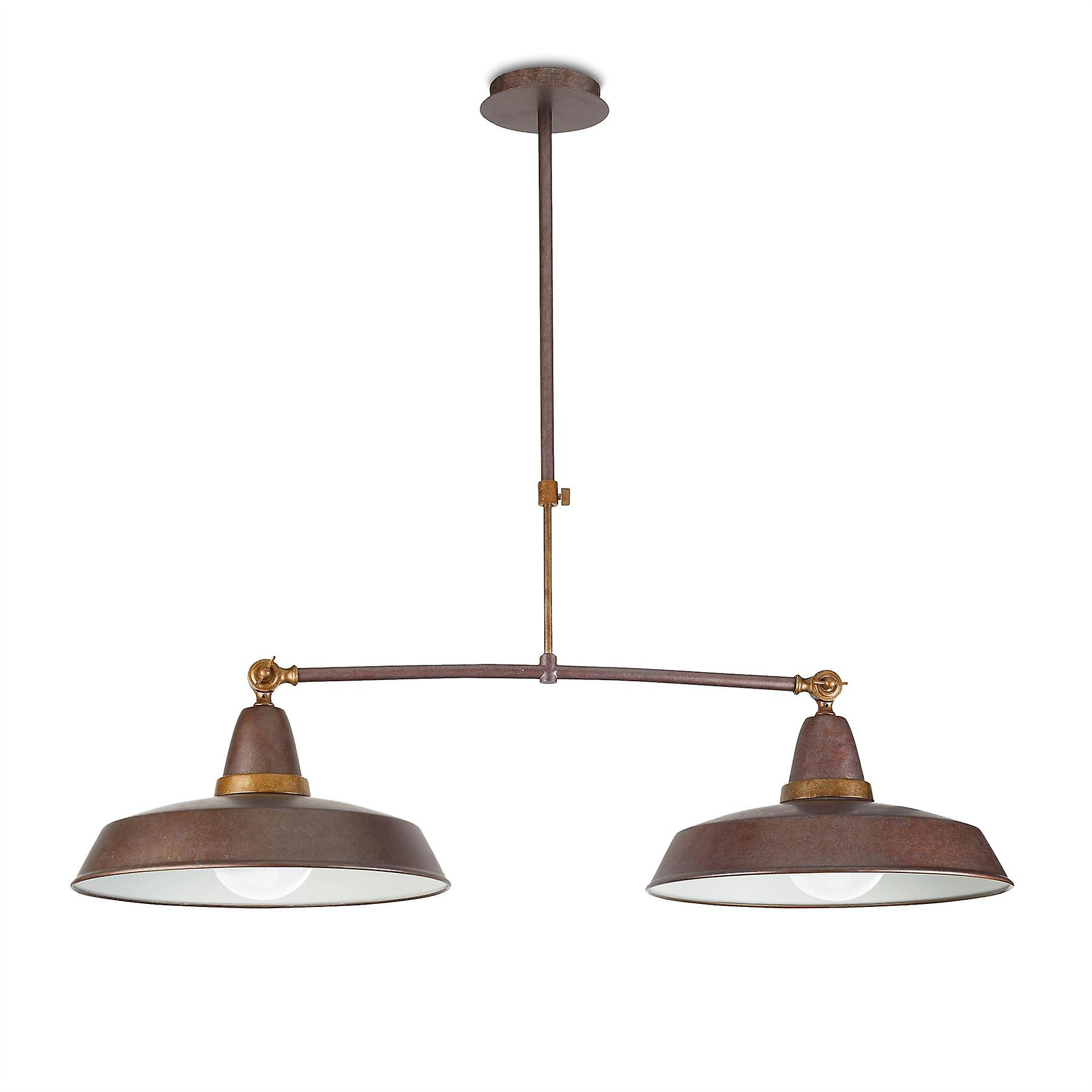 Vintage marron Adjustable Double Ceiling Pendant - Leds-C4 00-2011-S4-CG