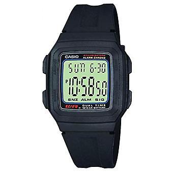 Casio digital watch quartz men with plastic strapping F-201W-1AEF