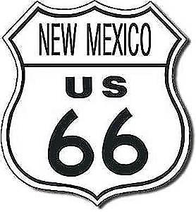 Route 66 New Mexico shield metal sign