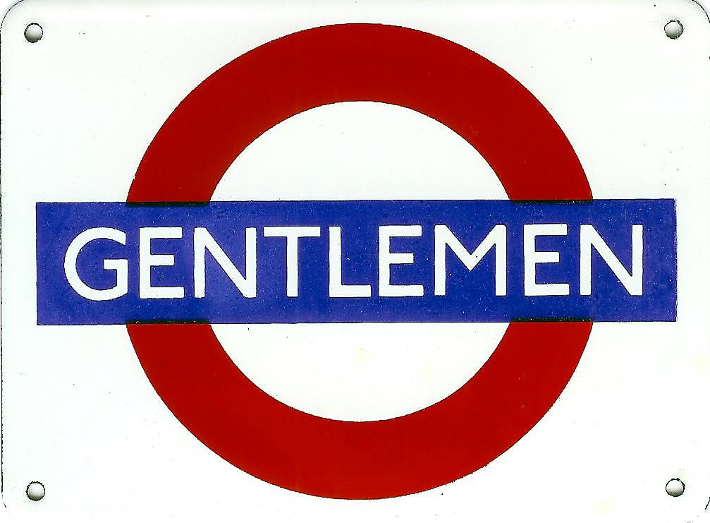 Gentlemen London Underground Roundel small enamel sign (gg)