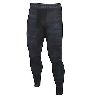 Under Armour ColdGear Armour Printed Compression Baselayer Legging Black