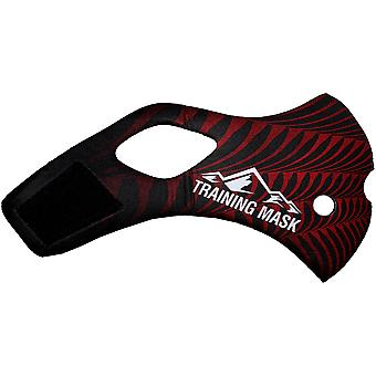 Elevation Training Mask 2.0 Black Widow Sleeve - Black/Red