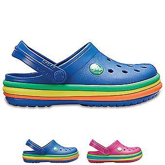 Unisex Kids Crocs Rainbow Crocband Clog Colourful Lightweight Water Shoes