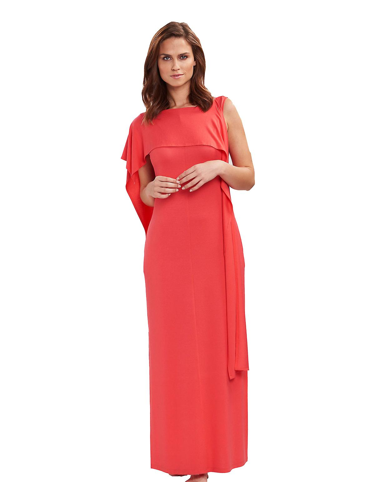 Feraud 3195032-10031 femmes&s Voyage Coral Orange Beach Dress