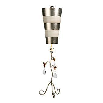 Elstead-1 lámpara de mesa ligera-plata & crema patina-FB/TIVOLI/TL SV