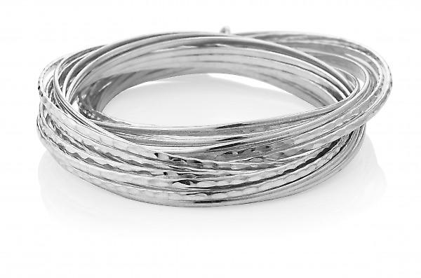 Cavendish French Sterling Silver Wreath Bangle