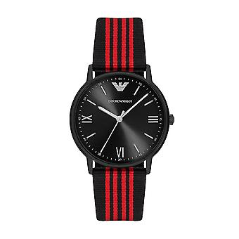 Emporio Armani Ar11015 Men's Black Band Quartz Watch