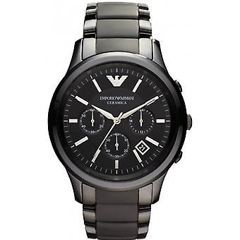 Emporio Armani Ar1452 mænds sort Ceramica Chronograph armbånd Watch