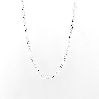 Eternity Sterling Silver 24'' Diamond Cut Belcher Chain