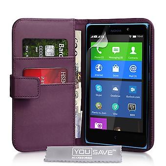 YouSave Accessories Nokia XL LeatherEffect Wallet Case Purple