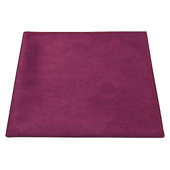 Luxury Plum Purple Suede Pocket Square, Handkerchief