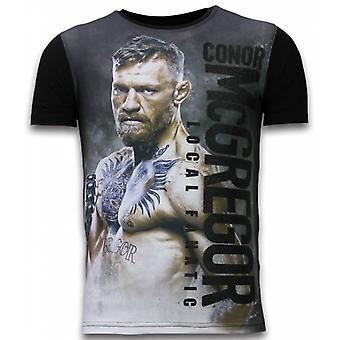 Conor McGregor Fighter-Digital Rhinestone T-shirt-Black