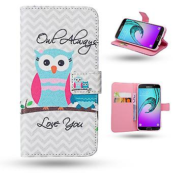Samsung Galaxy A3 2016-cases/portefeuille cuir-owls