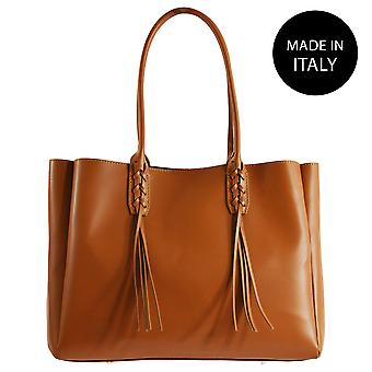 Leather shoulder bag Made in Italy 80023