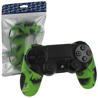 Sg-1 silicone rubber grip cover case skin for sony ps4 controllers - camo green