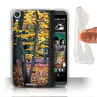 STUFF4 Gel/TPU Case/Cover for HTC Desire 820q Dual/Tree/Leaves/Autumn Season