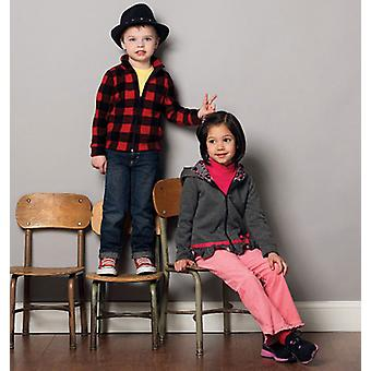 Children's Boys' Girls' Tops And Jackets  2  3  4  5 Pattern M6782  Cdd