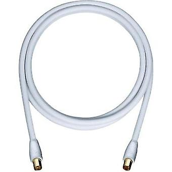 Antennas Cable [1x Belling-Lee/IEC plug 75Ω - 1x Belling-Lee/IEC plug 75Ω] 4 m 110 dB gold plated connectors White Oehlb