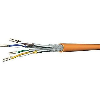 Network cable SF/UTP 4 x 2 x 0.25 mm² Orange DRAKA 1001032-00250BR Sold per metre