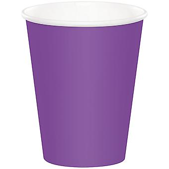 Paper Hot & Cold Cups 9oz 24/Pkg-Amethyst HCC-18914