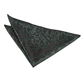 Black & Green Swirl Handkerchief / Pocket Square