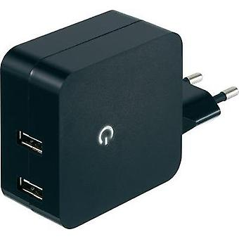 USB charger Mains socket VOLTCRAFT SPS-2400/2+ Max. output current 4800 mA 2 x USB