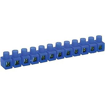 Screw terminal flexible: 2.5-6 mm² rigid: 2.5-6 mm² Number of pins: 12 Kaiser 663/bl 1 pc(s) Blue