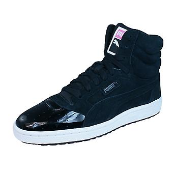 Puma Sky 3 Lace Matt and Shine Womens Suede Trainers / Shoes - Black