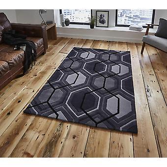 Moderne tapijten-tapijten van de HK 7526-houtskool rechthoek