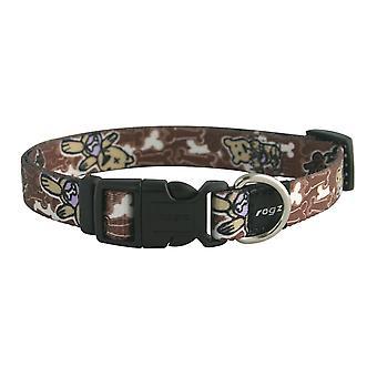 Rogz Pupz Nylon Collar Mr.t Brown 16mm X28-46cm