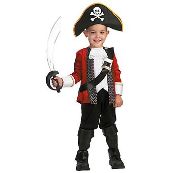 El Captain Pirate Captain Story Book Week Deluxe Toddler Boys Costume 3T - 4T