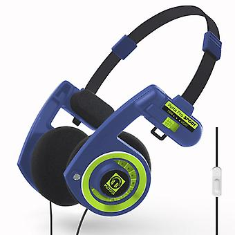 KOSS Hörlur PortaPro 3.0 On-Ear Mic Sport Blue/Green