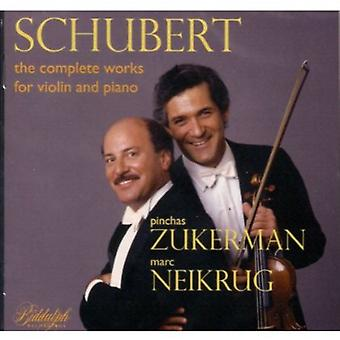 F. Schubert - Schubert: Den komplette værker for Violin & Piano [CD] USA import