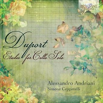 Alessando Andriani - Duport: Etudes voor Cello Solo [CD] USA import