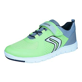 Geox J Xunday B Boys Trainers / Shoes - Green