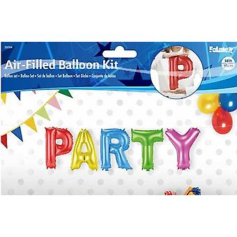5 foil balloon set PARTY letter Garland 36 cm high