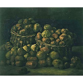 Vincent Van Gogh - Baskets of Potatoes, 1885 Poster Print Giclee